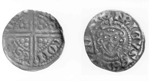 Silver sterling of Henric III of Kuinre. After his death, Henric was succeeded as lord of Urk and Emmeloord by his cousin Johan.