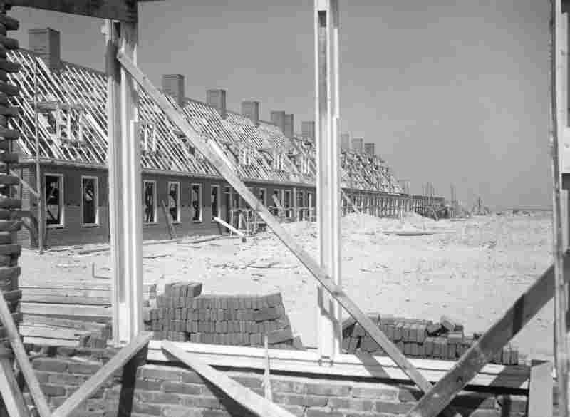 First houses in Emmeloord, 1943.