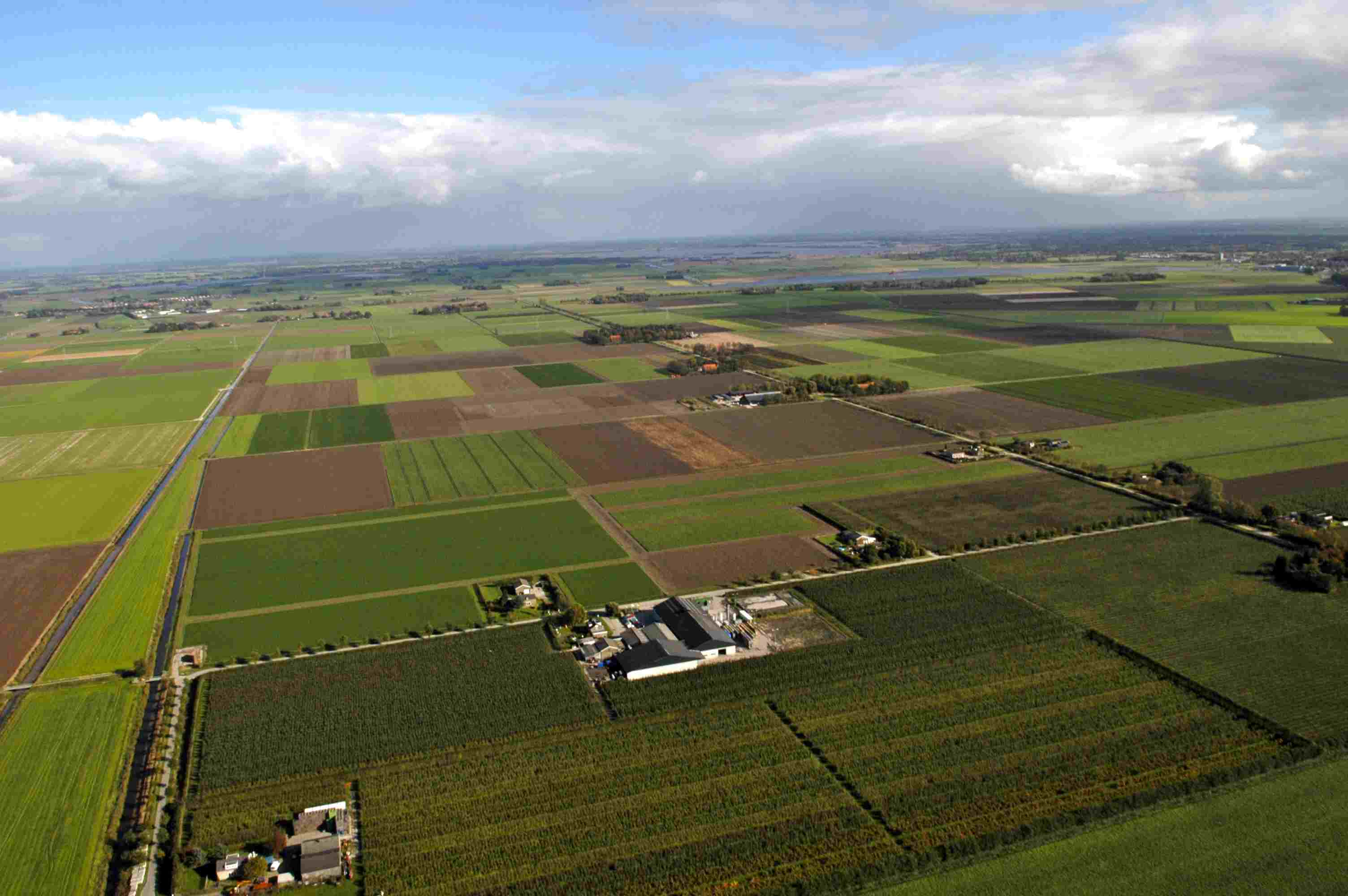Aerial view Noordoostpolder east side.