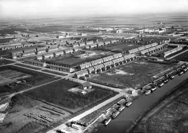 Aerial picture Emmeloord 1952.