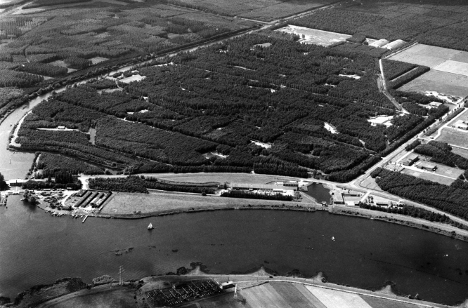 Luchtfoto Waterloopbos 1969.